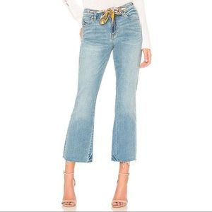 FREE PEOPLE We The Free Blue Rye Wash Cropped Jean
